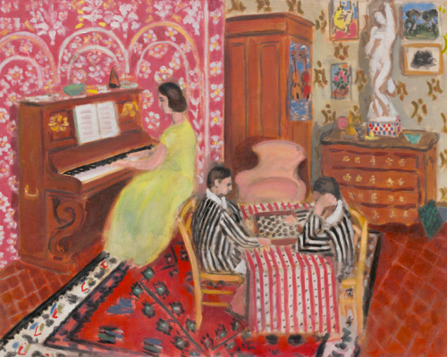 "Henri Matisse ""Pianista e giocatori di dama"" Washington, National Gallery of Art, Collection of Mr. and Mrs Paul Mellon"