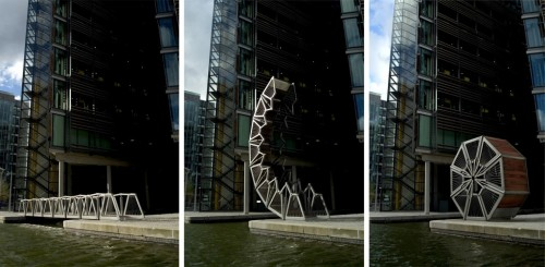 Rolling Bridge en Paddington by Heatherwick Studio