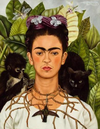 Heroínas en el Thyssen Frida Kahlo, autorretrato MUSEO THYSSEN-BORNEMISZA