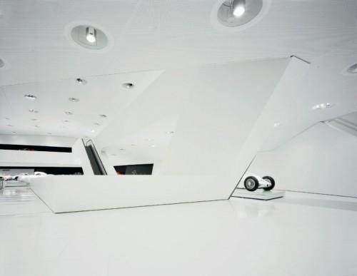 Porsche Museum by Delugan Meissl in Stuttgart, Germany.