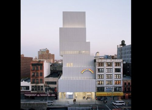 The New Museum of Contemporary Art by SANAA in New York, USA.