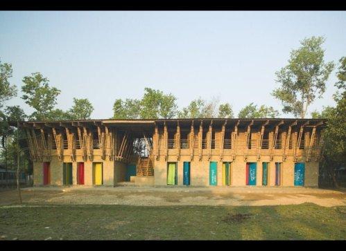 METI Handmade School in Rudrapur by Anna Heringer.
