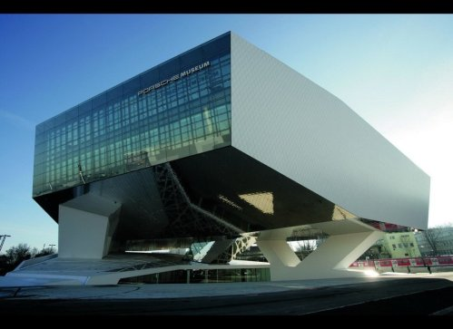 Porsche Museum by Delugan Meissl in Stuttgart, Germany.