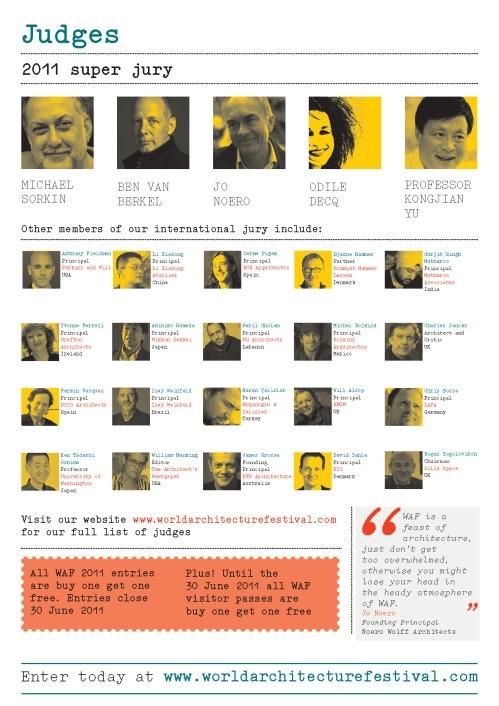 Abiertas las inscripciones al World Architecture Festival 2011 (Barcelona)