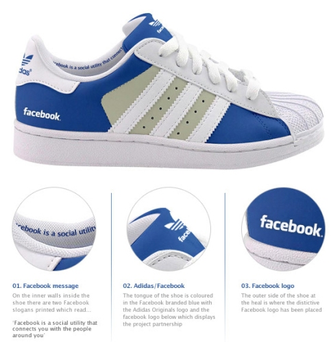"Zapatillas deportivas ""Limited Edition"" Facebook y Twitter by Adidas"