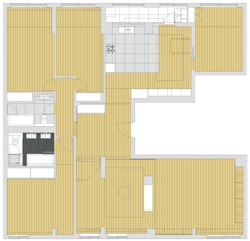Remodelación de apartamento en Portela de Sacavém (Lisboa) by Henrique Barros-Gomes - Plano Proyecto