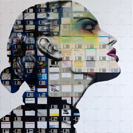 Como reciclar con arte: Floppy disk e vhs el hi-tech revive by Nick Gentry